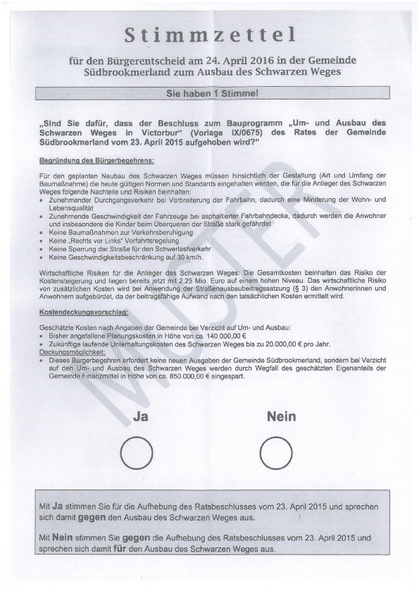Stimmzettel Muster